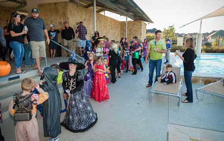 The community celebrated Halloween together with trick-or-treating and a hayride through the Fairway Ranch neighborhood